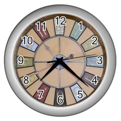 Collage 1706638 1920 Wall Clock (silver)