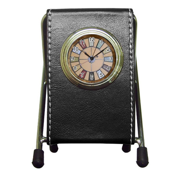 Collage 1706638 1920 Pen Holder Desk Clock