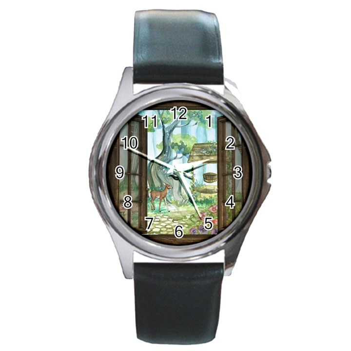 Town 1660349 1280 Round Metal Watch