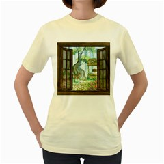 Town 1660349 1280 Women s Yellow T-Shirt