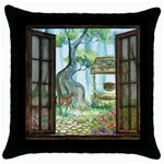 Town 1660349 1280 Throw Pillow Case (Black) Front