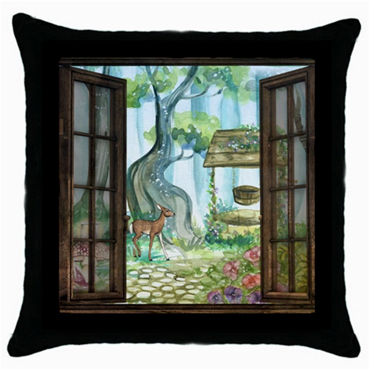 Town 1660349 1280 Throw Pillow Case (Black)