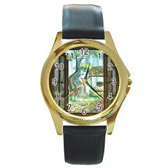 Town 1660349 1280 Round Gold Metal Watch