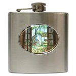 Town 1660349 1280 Hip Flask (6 oz) Front