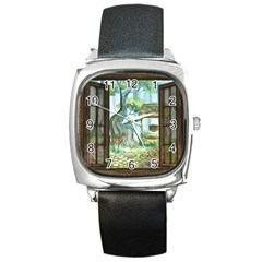 Town 1660349 1280 Square Metal Watch