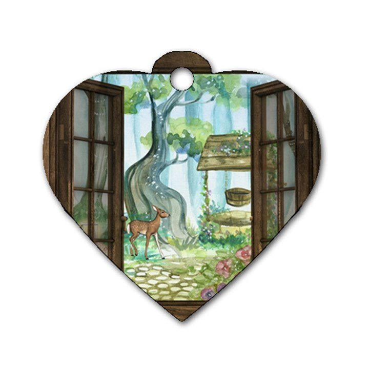 Town 1660349 1280 Dog Tag Heart (One Side)