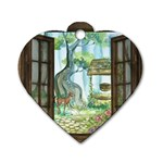 Town 1660349 1280 Dog Tag Heart (Two Sides) Front
