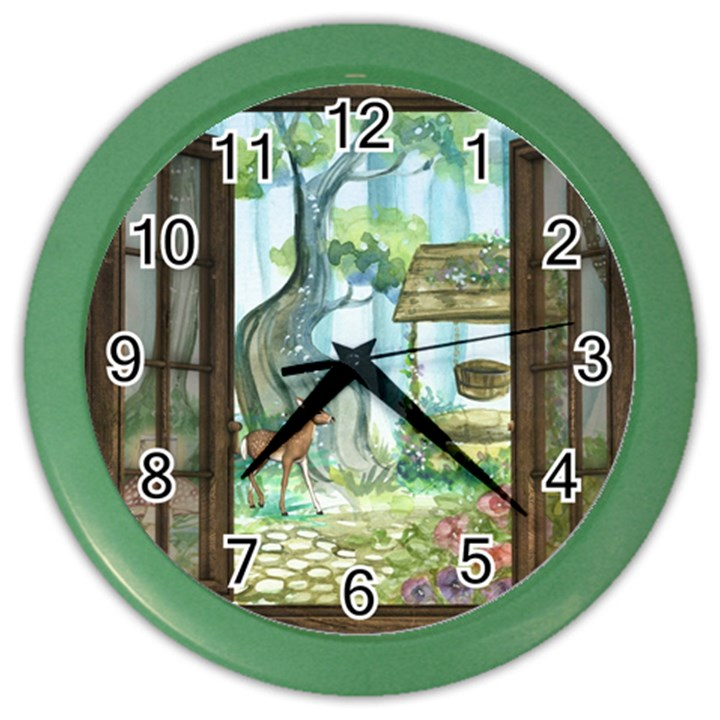 Town 1660349 1280 Color Wall Clock