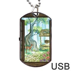 Town 1660349 1280 Dog Tag USB Flash (One Side)