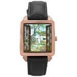 Town 1660349 1280 Rose Gold Leather Watch  Front