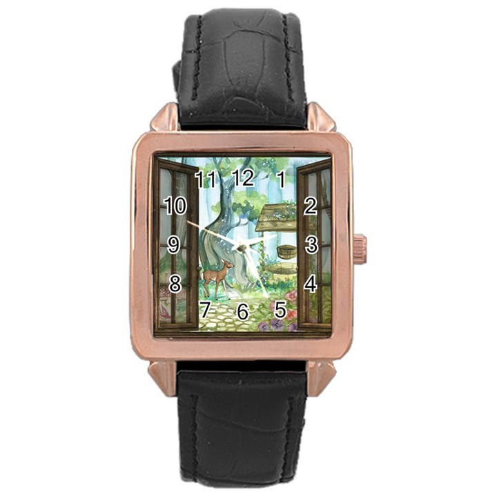 Town 1660349 1280 Rose Gold Leather Watch