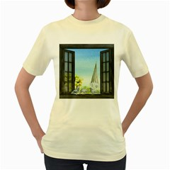 Town 1660455 1920 Women s Yellow T Shirt