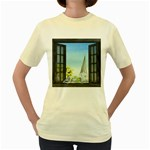 Town 1660455 1920 Women s Yellow T-Shirt Front