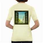 Town 1660455 1920 Women s Yellow T-Shirt Back