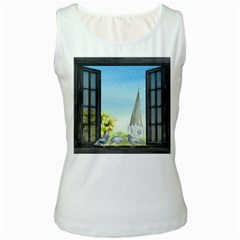 Town 1660455 1920 Women s White Tank Top