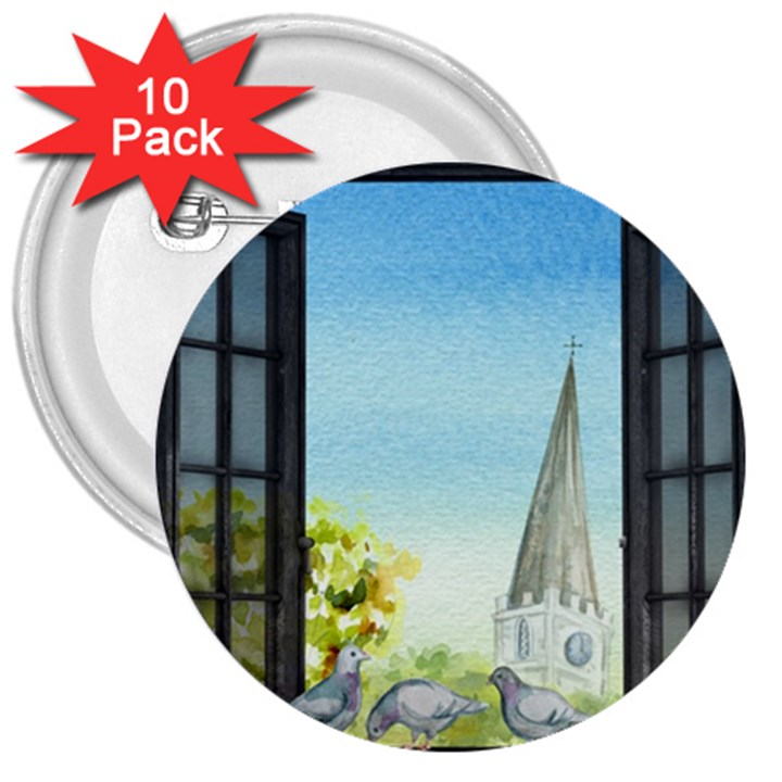 Town 1660455 1920 3  Buttons (10 pack)
