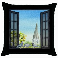 Town 1660455 1920 Throw Pillow Case (black) by vintage2030
