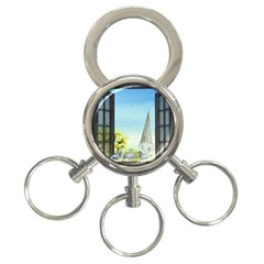 Town 1660455 1920 3 Ring Key Chains by vintage2030