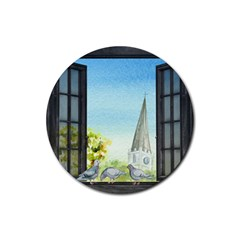 Town 1660455 1920 Rubber Coaster (round)