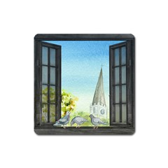 Town 1660455 1920 Square Magnet