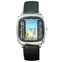 Town 1660455 1920 Square Metal Watch