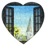 Town 1660455 1920 Jigsaw Puzzle (Heart) Front