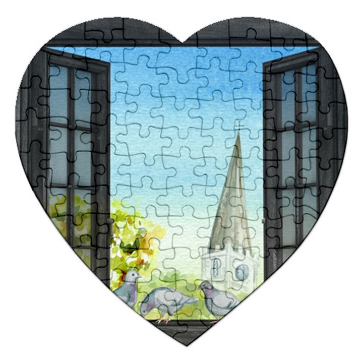 Town 1660455 1920 Jigsaw Puzzle (Heart)