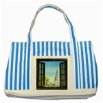 Town 1660455 1920 Striped Blue Tote Bag Front