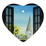 Town 1660455 1920 Heart Ornament (Two Sides) Back