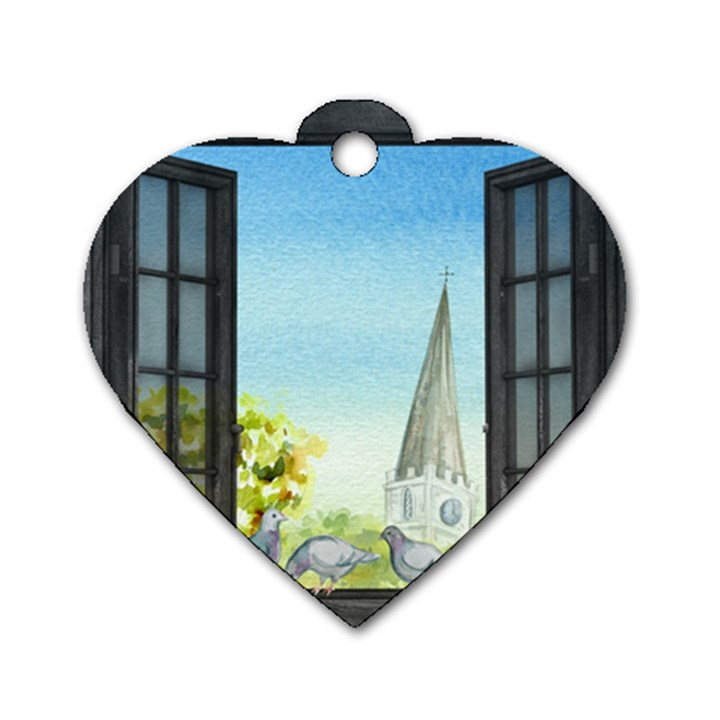 Town 1660455 1920 Dog Tag Heart (One Side)