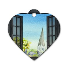 Town 1660455 1920 Dog Tag Heart (two Sides)
