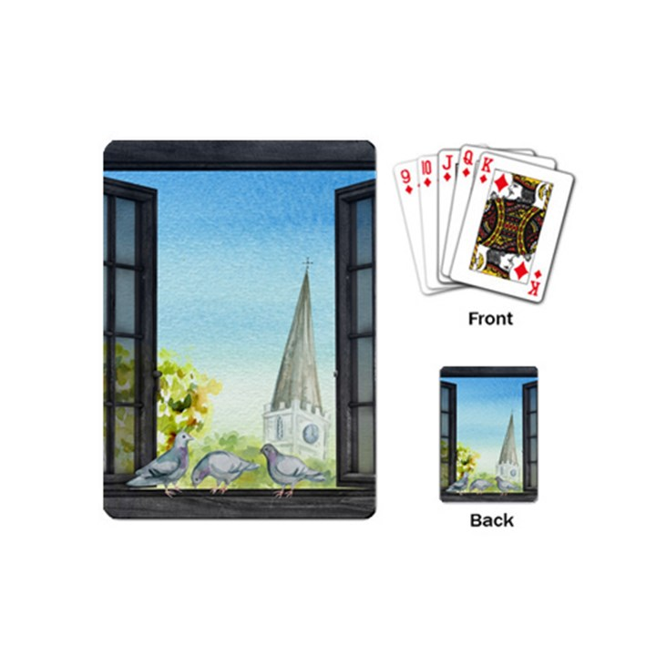 Town 1660455 1920 Playing Cards (Mini)
