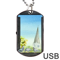 Town 1660455 1920 Dog Tag Usb Flash (two Sides)