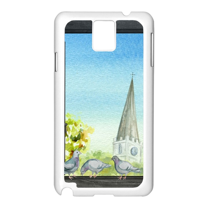 Town 1660455 1920 Samsung Galaxy Note 3 N9005 Case (White)