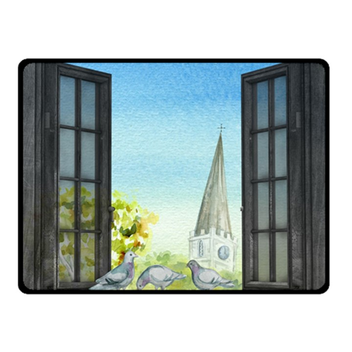 Town 1660455 1920 Double Sided Fleece Blanket (Small)