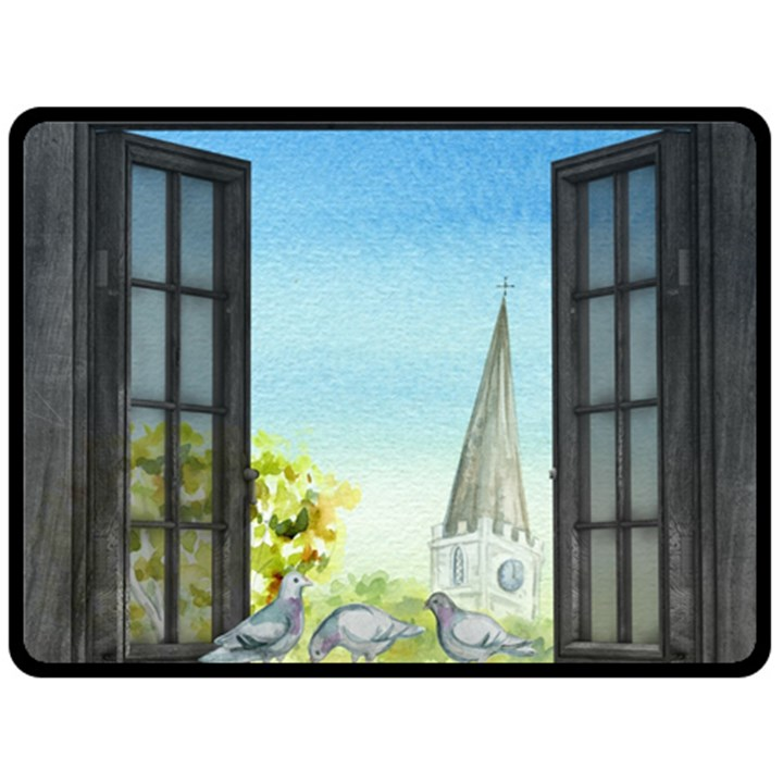 Town 1660455 1920 Double Sided Fleece Blanket (Large)