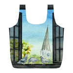 Town 1660455 1920 Full Print Recycle Bag (L) Back