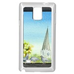Town 1660455 1920 Samsung Galaxy Note 4 Case (White) Front
