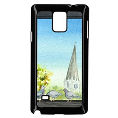 Town 1660455 1920 Samsung Galaxy Note 4 Case (black)