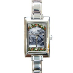 Winter 1660924 1920 Rectangle Italian Charm Watch