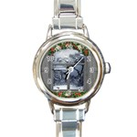 Winter 1660924 1920 Round Italian Charm Watch Front