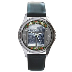 Winter 1660924 1920 Round Metal Watch