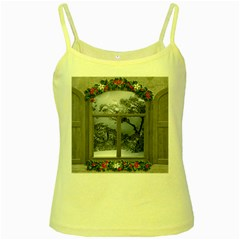 Winter 1660924 1920 Yellow Spaghetti Tank