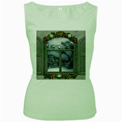 Winter 1660924 1920 Women s Green Tank Top