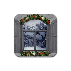 Winter 1660924 1920 Rubber Square Coaster (4 pack)