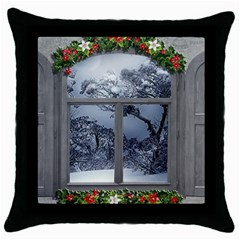 Winter 1660924 1920 Throw Pillow Case (Black)