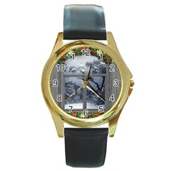 Winter 1660924 1920 Round Gold Metal Watch
