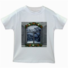 Winter 1660924 1920 Kids White T-Shirts
