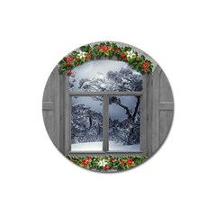Winter 1660924 1920 Magnet 3  (Round)