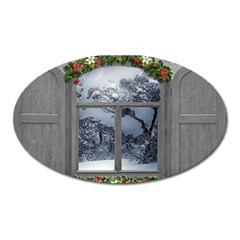 Winter 1660924 1920 Oval Magnet